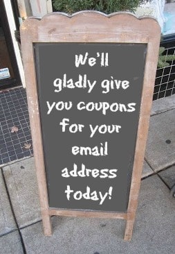 Chalkboard signs are a great way to builld your email list