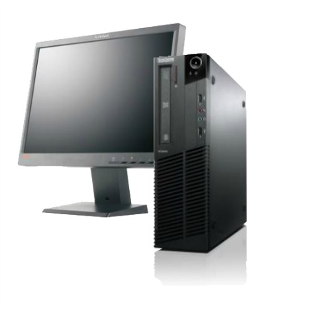 Lenovo ThinkCentre Desktop Computer with the Lenovo ThinkVision LED Backlight LCD Monitor