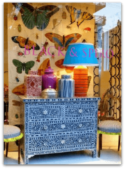 Use colors in furniture stores for summer merchandising displays