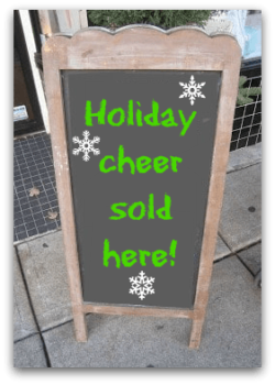 holiday ideas include fun chalkboard signs