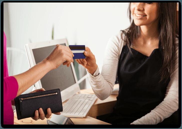 Consignment Shop Cash Wrap with a salesperson