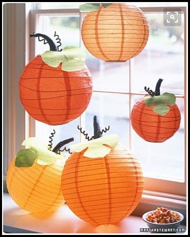 Fall decorations with Japanese lanterns