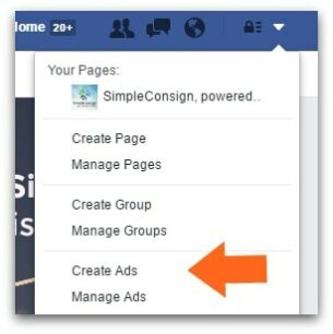 Begin your Facebook ads here