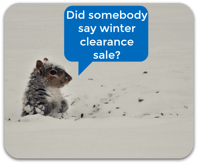 reduce inventory with a winter clearance sale