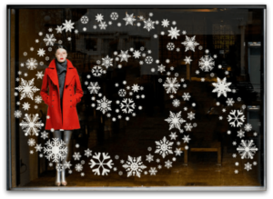 Consignment Store holiday windows that rock