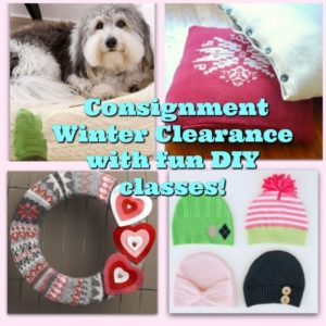 Offer fun DIY classes for Consignment Winter Clearance