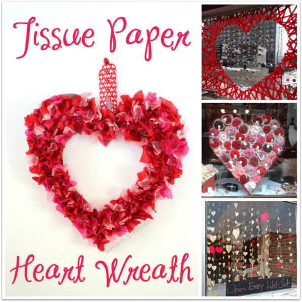 Use hearts in your window decorations