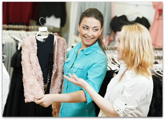 A saleswoman who can expertly cross-sell a consignment customer