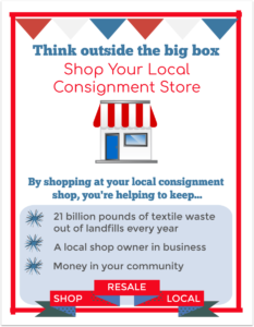 July is independent consignment store month