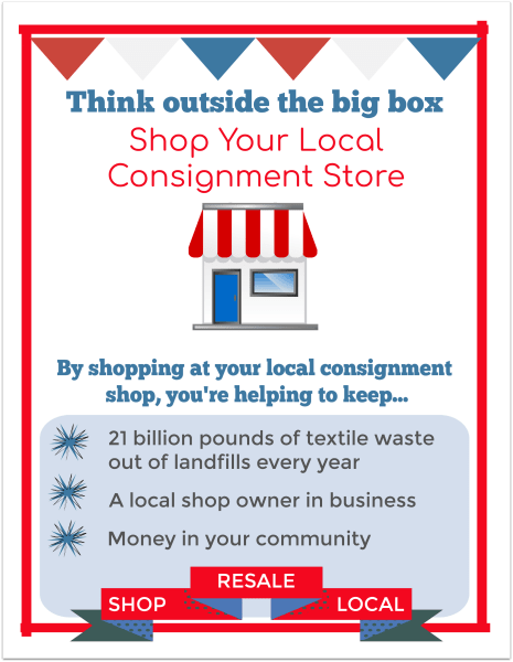 Independent consignment store month is July!