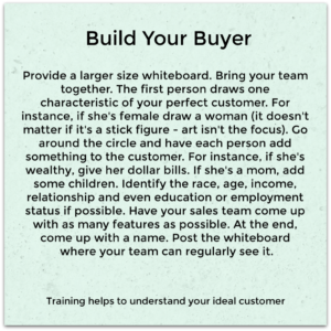 Build Your Buyer Persona as part of your sales training