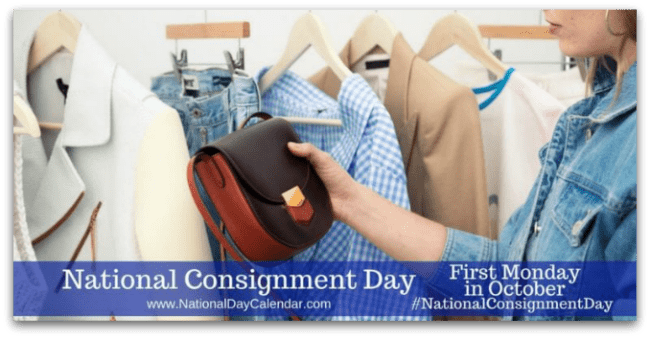 Celebrate national consignment day!