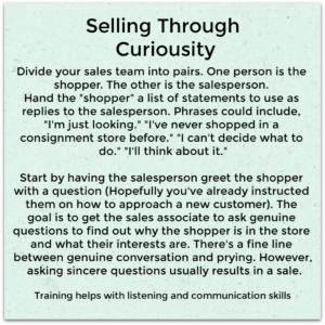 Use the Selling Through Curiosity sales technique