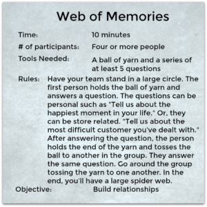Web of Memories Game